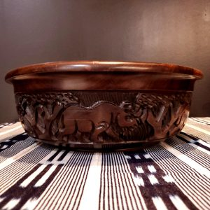 Big 5 Carved wood bowl XL 1-