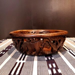 Big 5 Cutout Wood Bowl Large 1-