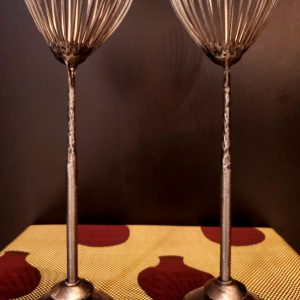 Silver tree candle stand set-
