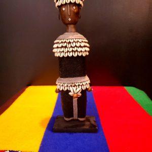 Namji Black XL 2 tier cowrie hat