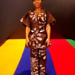 African Ken Doll-