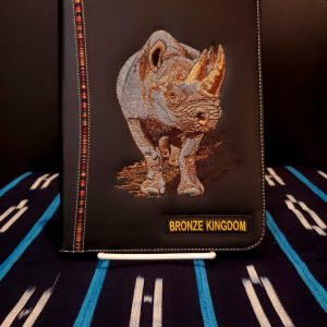 BK Rhino leather notebook