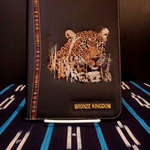 Bronze Kingdom Leopard Leather Notebook –