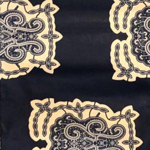 Blue and Cream Fabric-