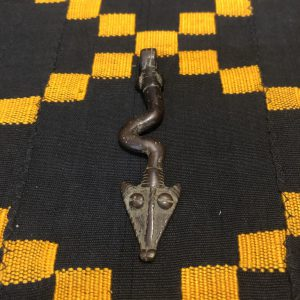 Antique Dogon snake pendant